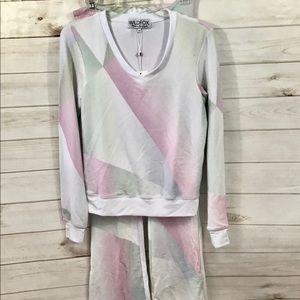 Wildfox Multicolored Sweatshirt and Sweatpants
